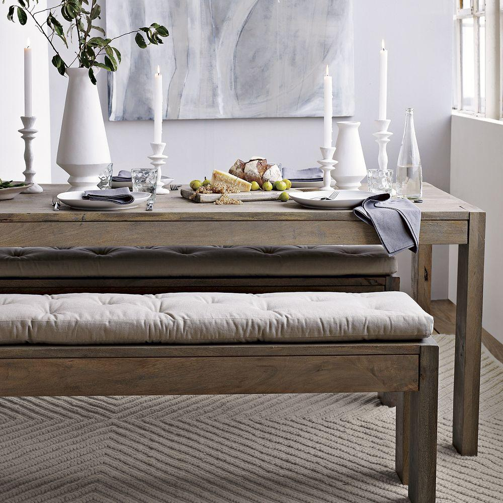 Tufted Dining Bench Cushion West Elm Uk
