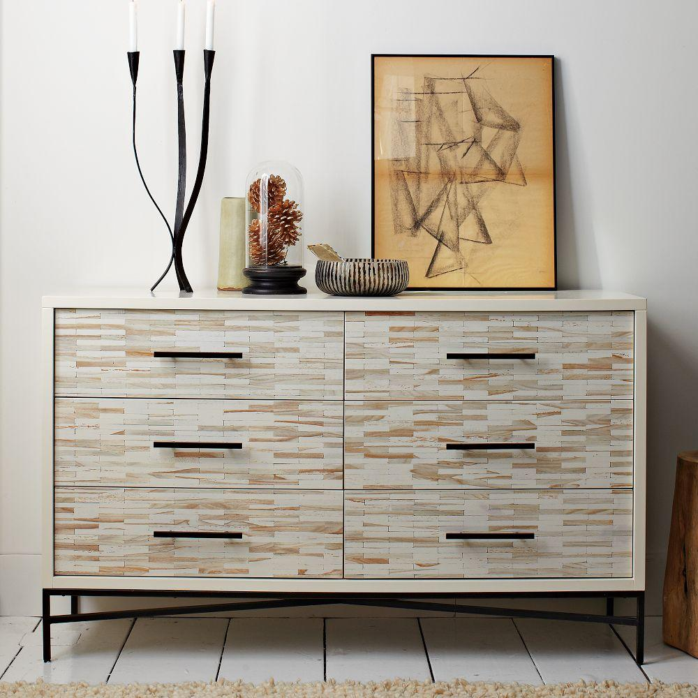 Wood Tiled 6 Drawer Chest West Elm Uk