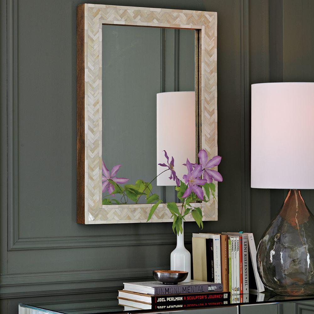 parsons small wall mirror  bone inlay . parsons small wall mirror  bone inlay  west elm uk
