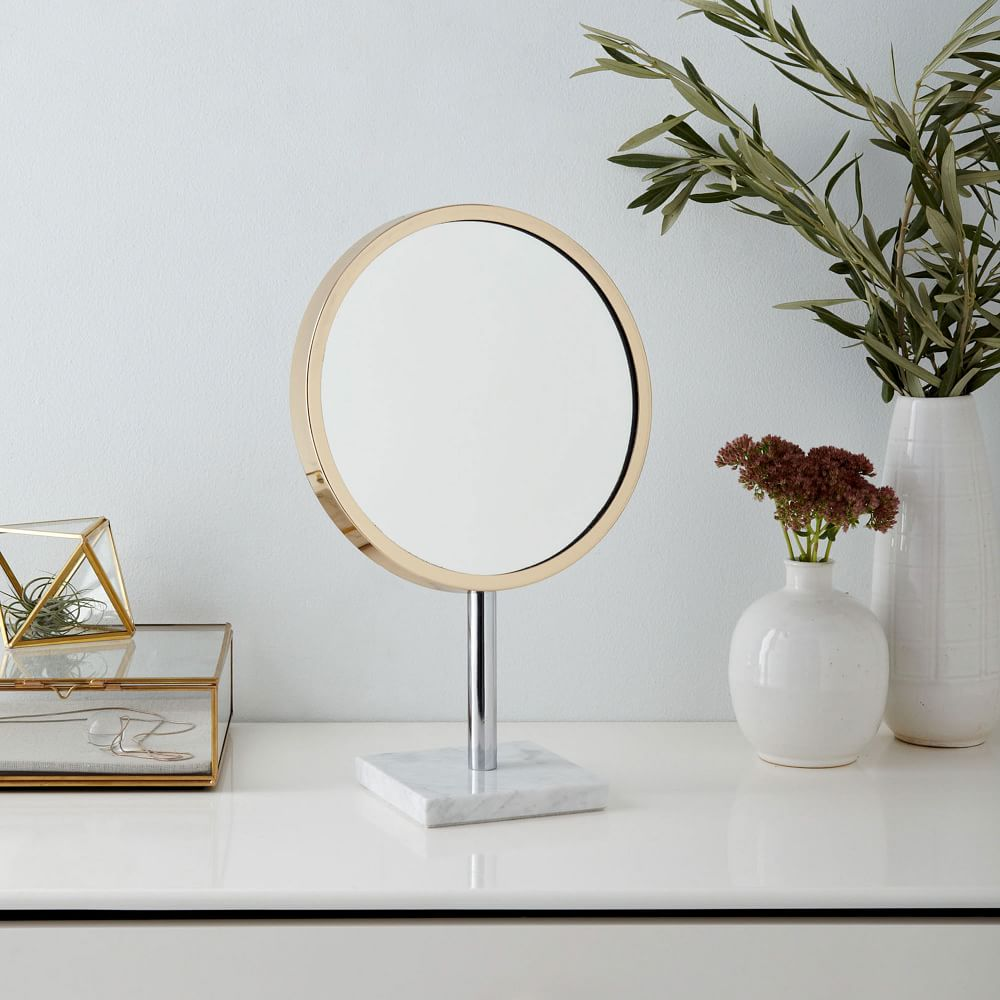 Marble Base Vanity Mirror