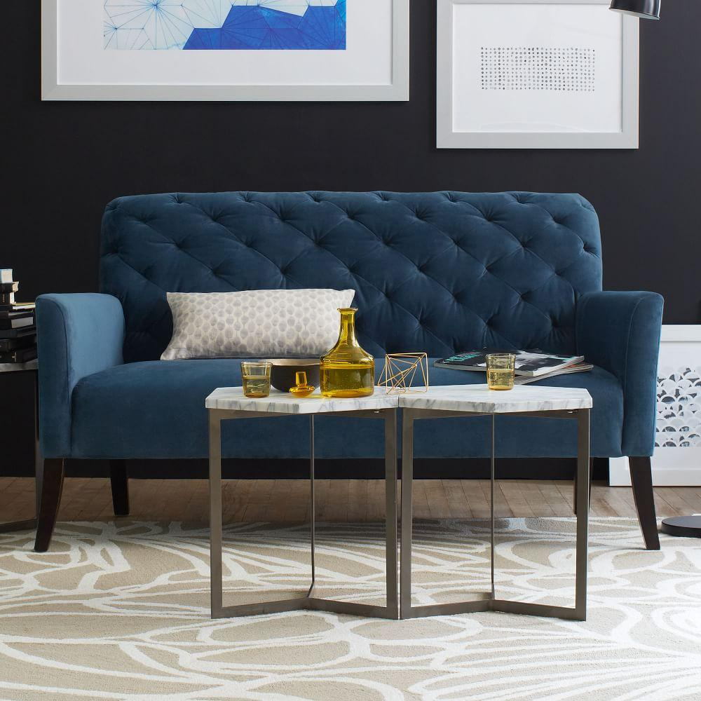 Hex side table west elm uk hex side table geotapseo Choice Image