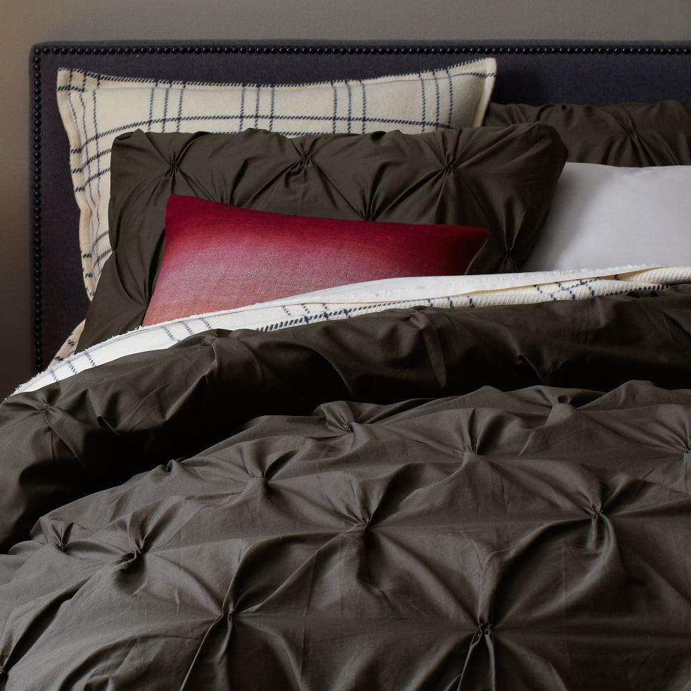 Pintuck Duvet: Organic Cotton Pintuck Duvet Cover + Pillowcases