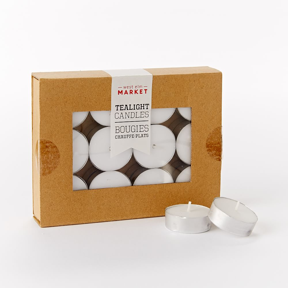 Unscented Tealight Candles - Set of 24