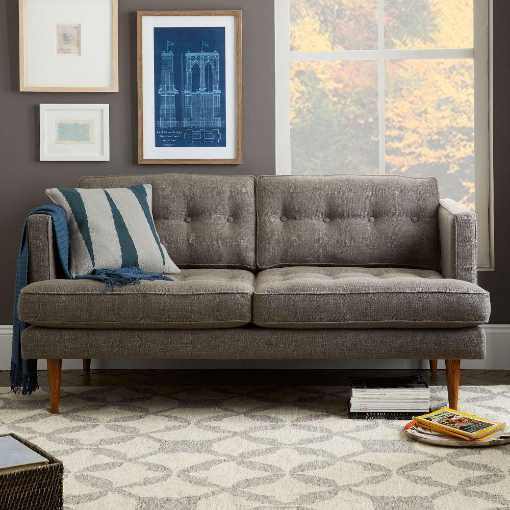 Peggy mid century loveseat west elm uk for West elm peggy sectional sofa