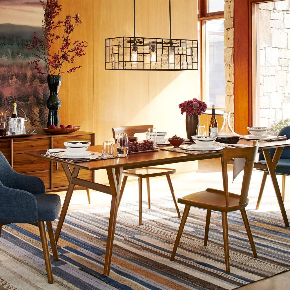 mid century expandable dining table walnut west elm uk. Black Bedroom Furniture Sets. Home Design Ideas