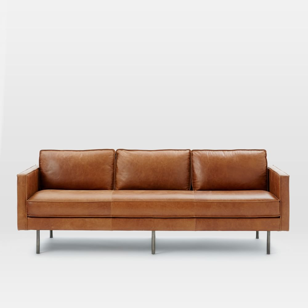 Axel Leather Sofa 226 Cm West Elm UK