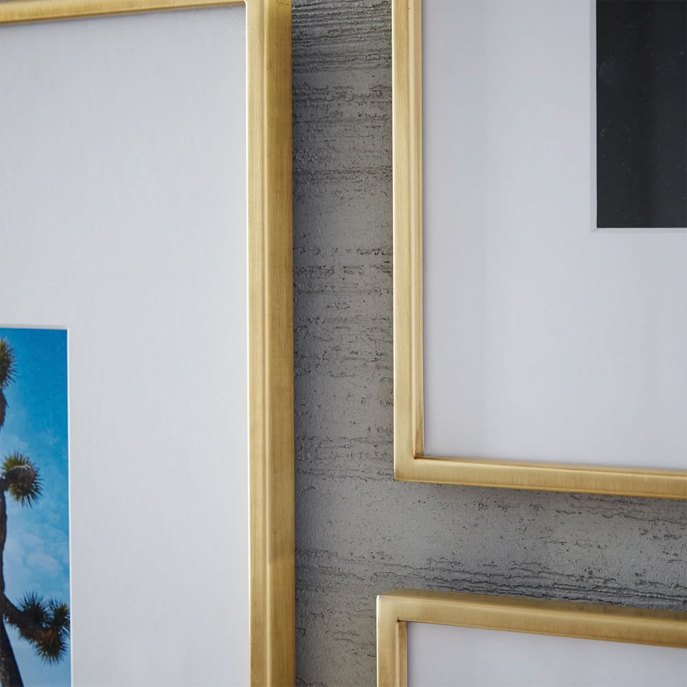 Gallery Frames Polished Brass West Elm Uk