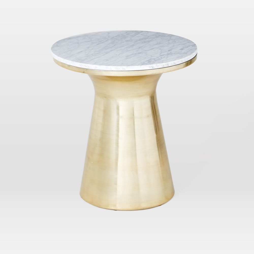 Marble Topped Pedestal Side Table
