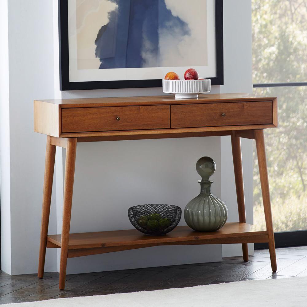 mid century console. Black Bedroom Furniture Sets. Home Design Ideas