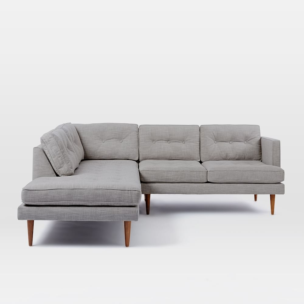 Peggy Mid Century Terminal Chaise Sectional West Elm Uk