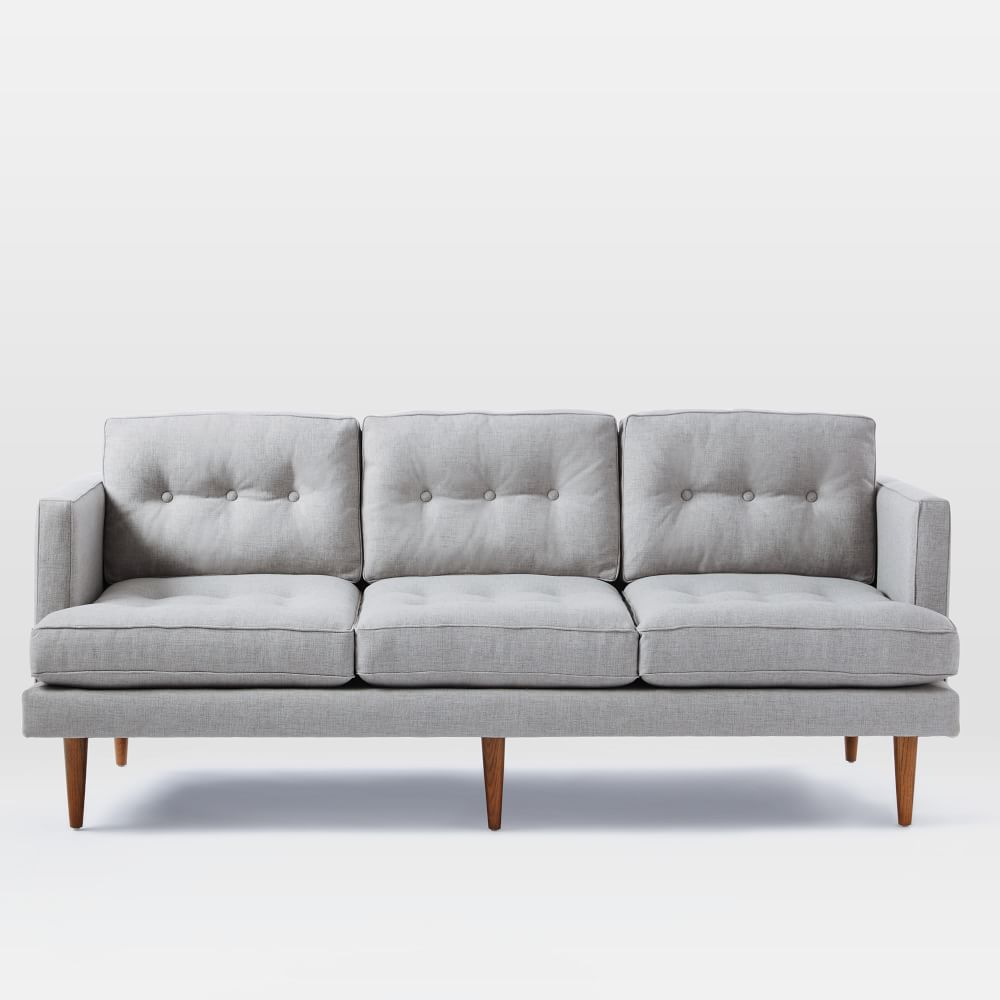Mid Century Modern Sofas: Peggy Mid-Century Sofa - Feather Grey (202 Cm)