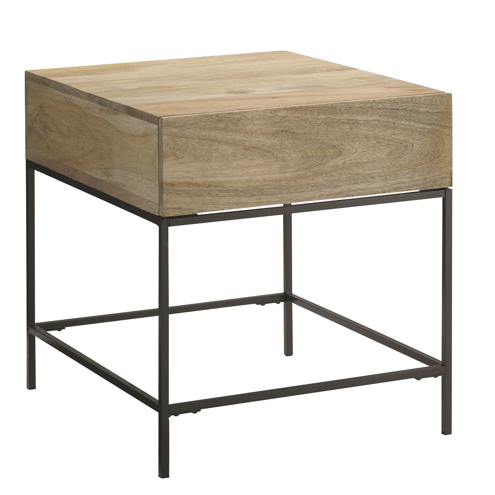 Industrial Storage Side Table West Elm UK
