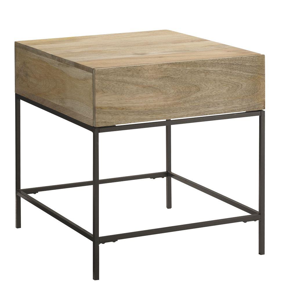 Industrial Storage Side Table