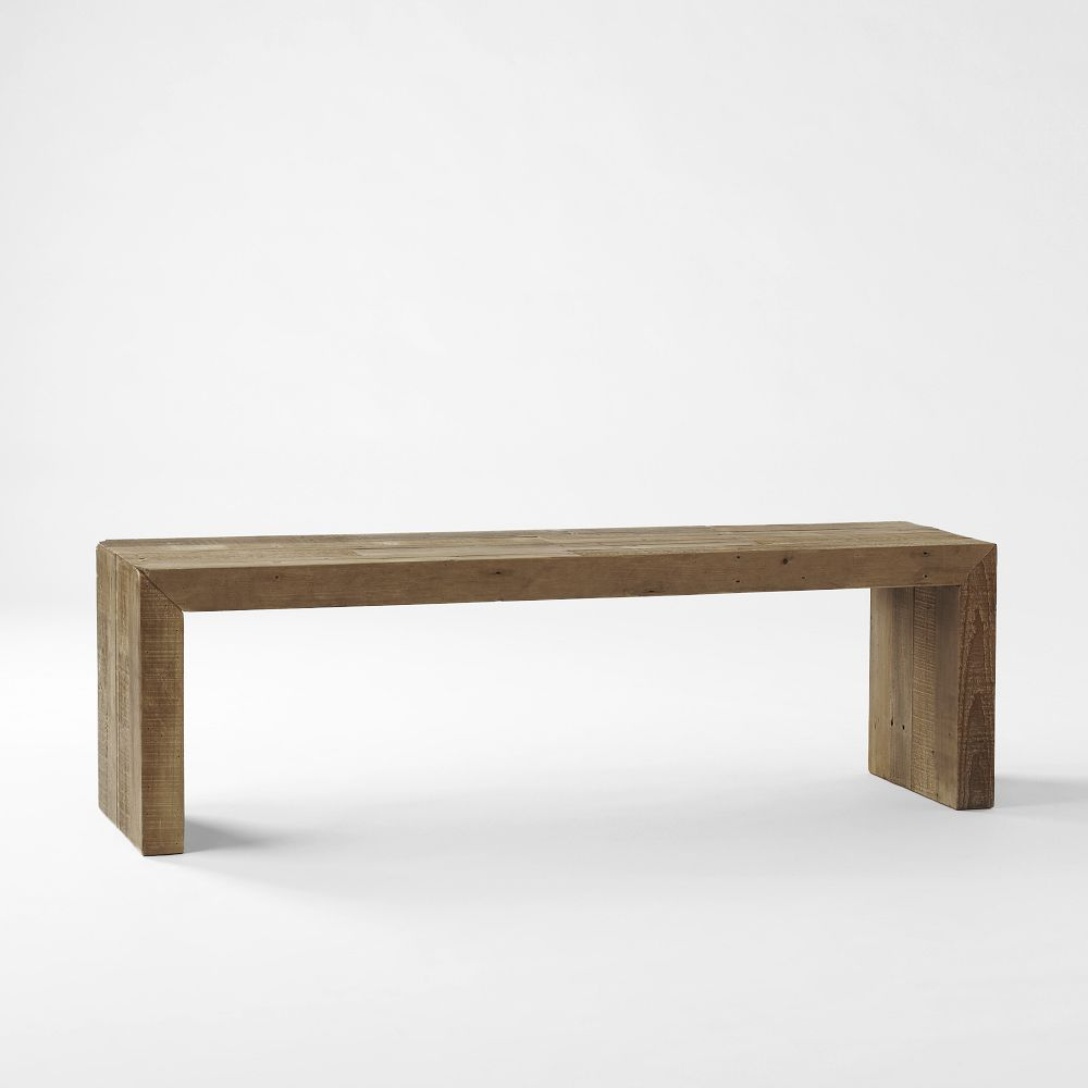 emmerson reclaimed wood dining bench west elm uk
