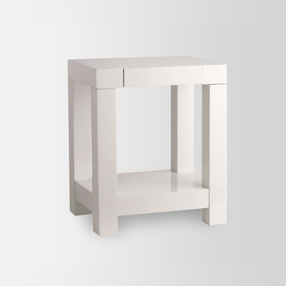 Parsons end table white for White end table