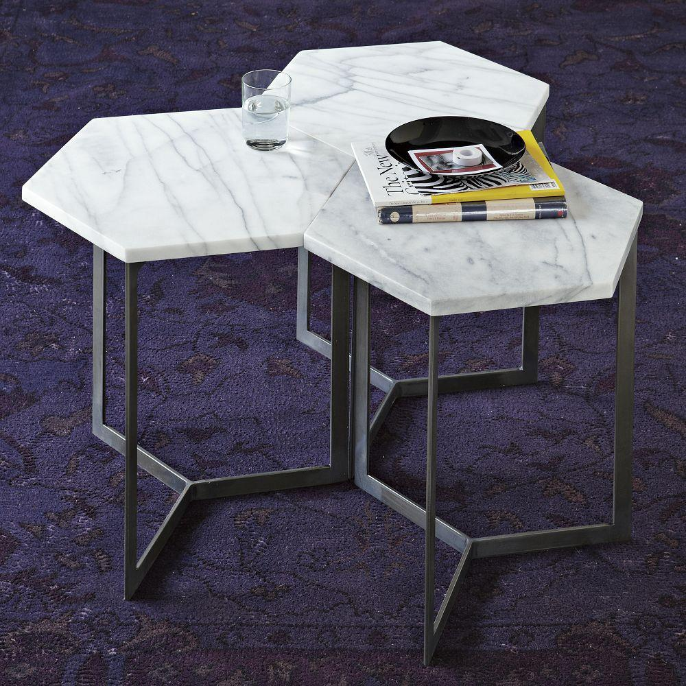 Hex Side Table West Elm UK - Hex coffee table