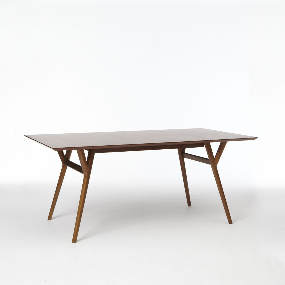 Mid century expandable dining table walnut west elm uk for Best dining tables uk