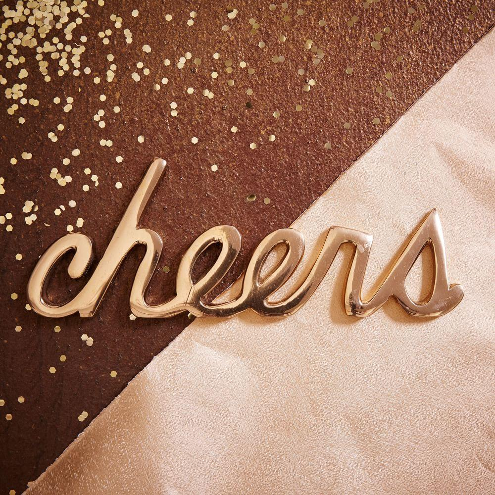 Cheers Furniture Company: Brass Word Object - Cheers