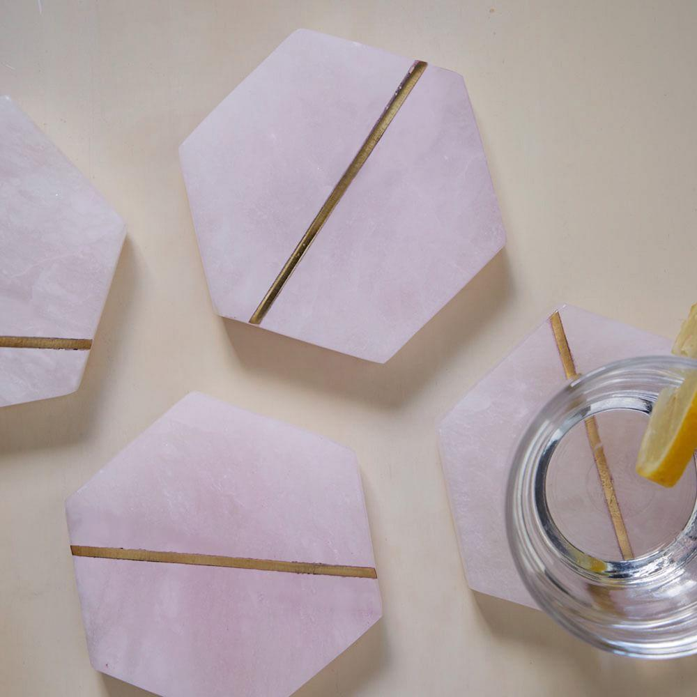 ... Decked Out Pink Stone Coasters - Set of 4 ...