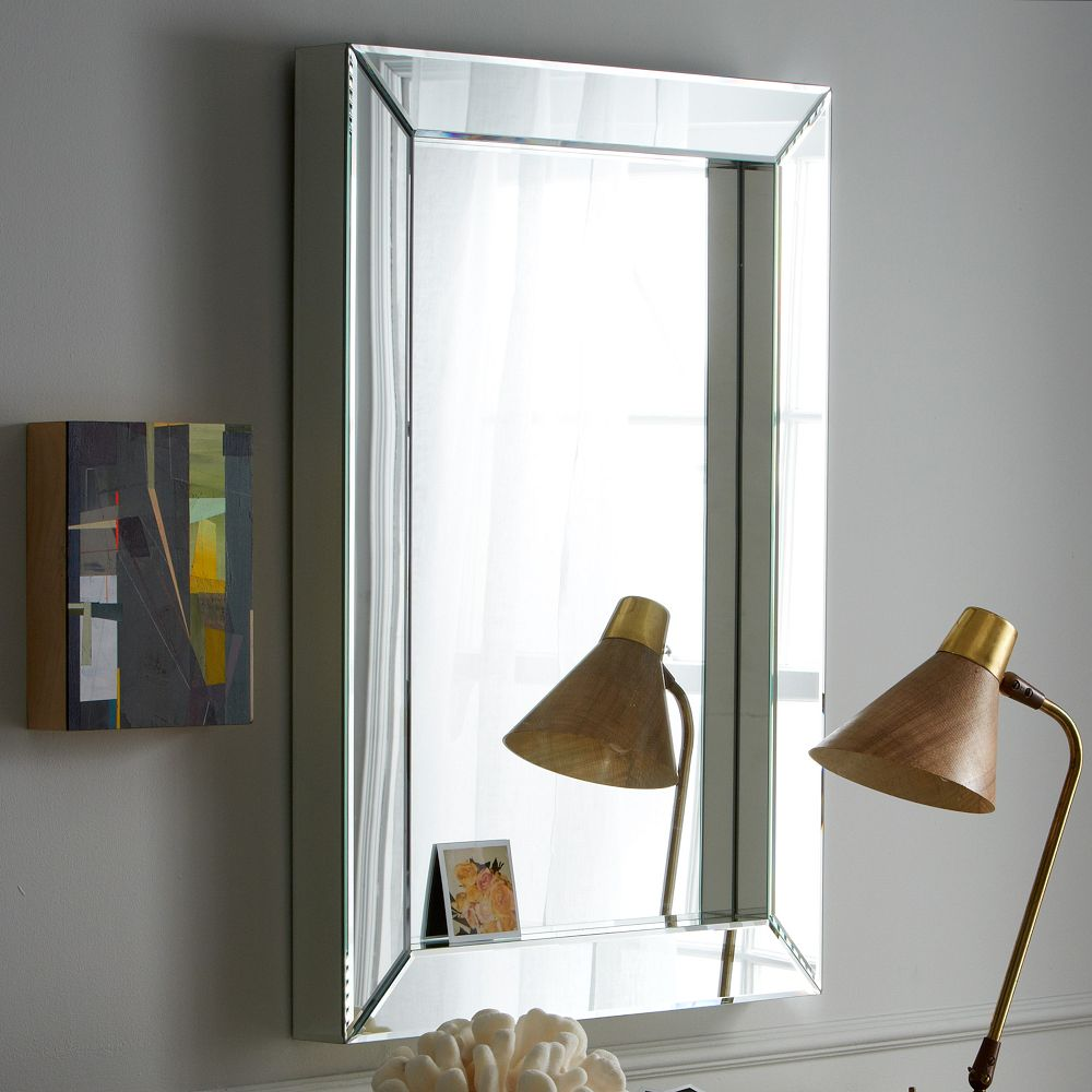 Parsons wall mirror mirrored west elm uk for Wall table with mirror