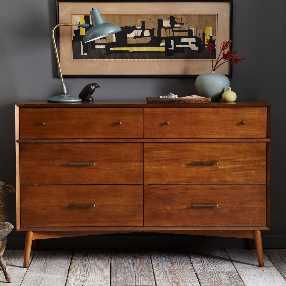 Mid century 6 drawer chest acorn - Contemporary bedroom chest of drawers ...