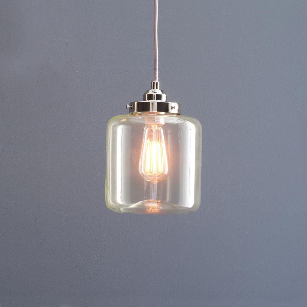 Glass Jar Ceiling Lamp Short West Elm Uk