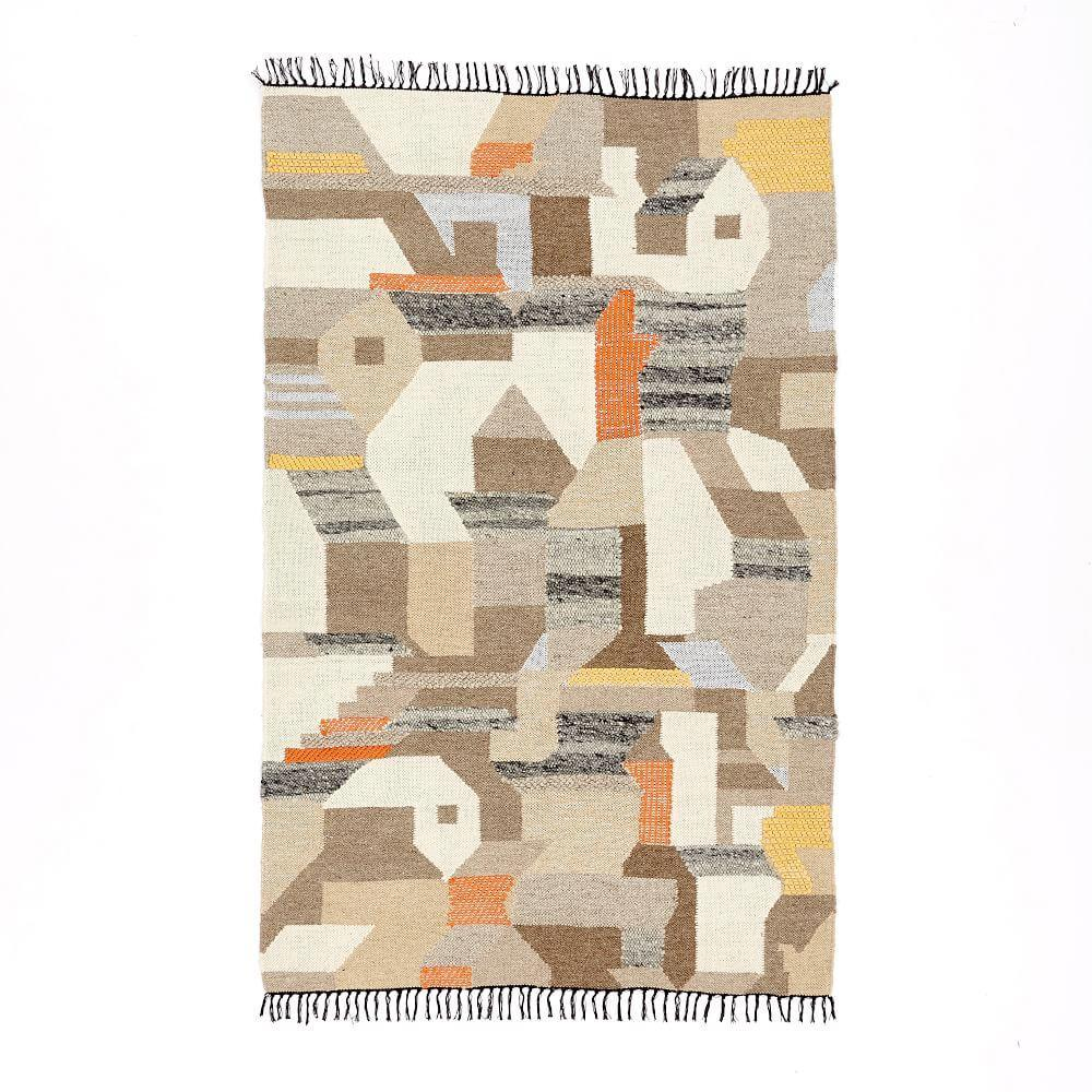 Art Kilim Wool Rug