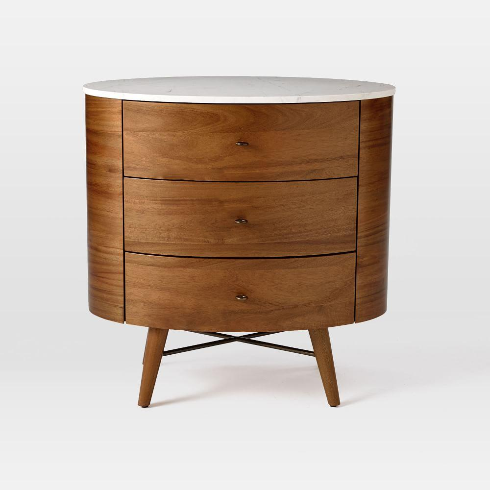 Penelope 3 drawer bedside table west elm uk - Bedside table ...