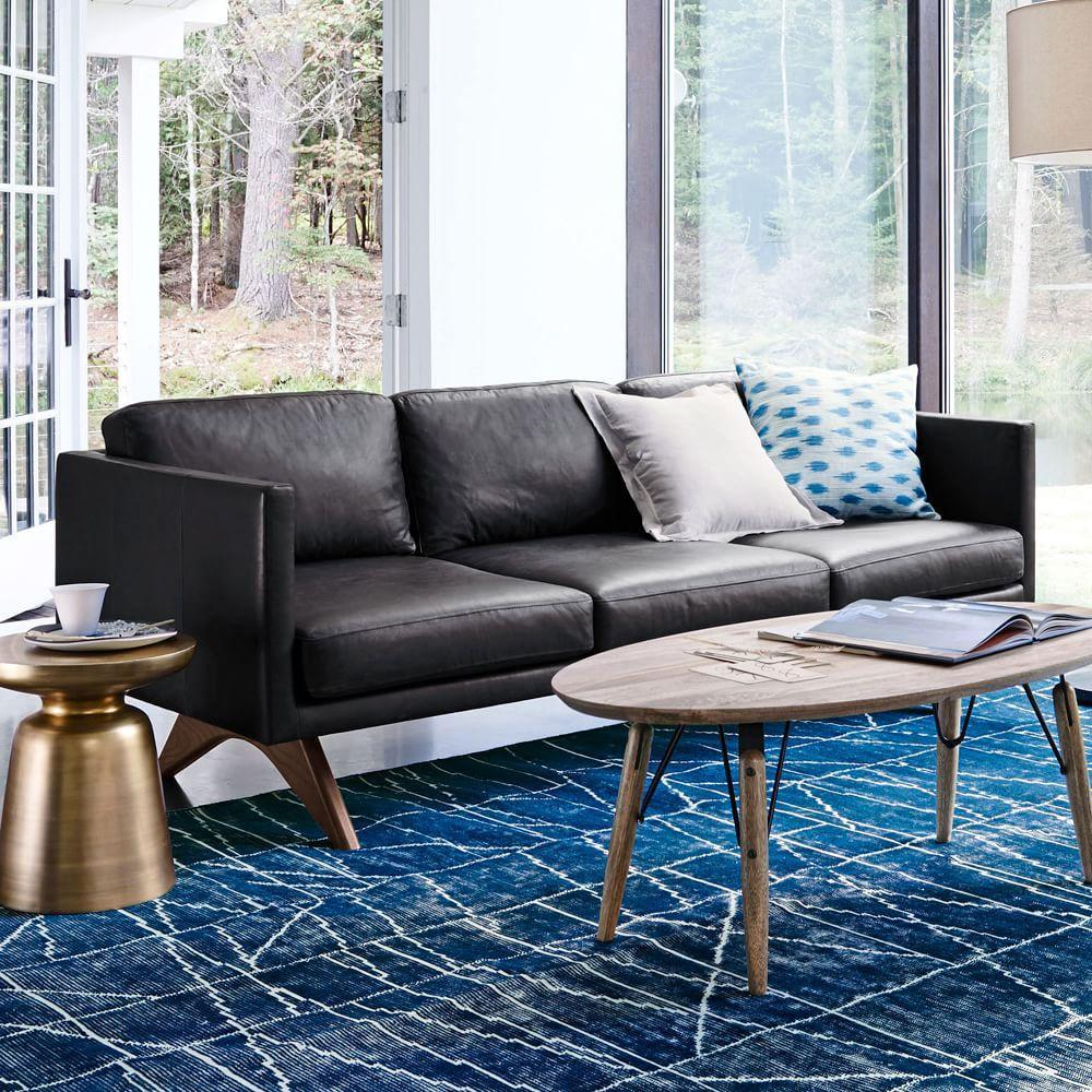 Cheap armchairs for sale uk from under 100 classic amp modern design - Brooklyn Leather Sofa 206 Cm