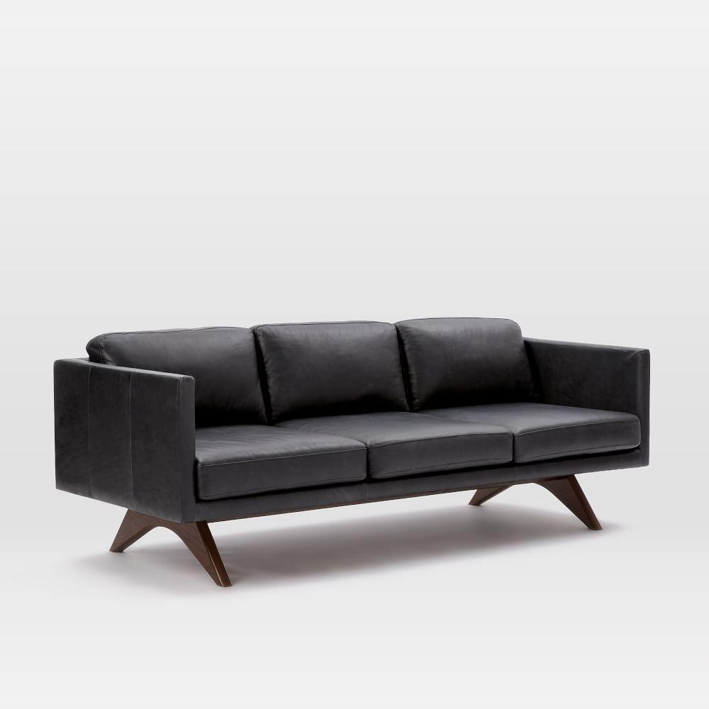 Brooklyn Leather Sofa 206 Cm West Elm Uk