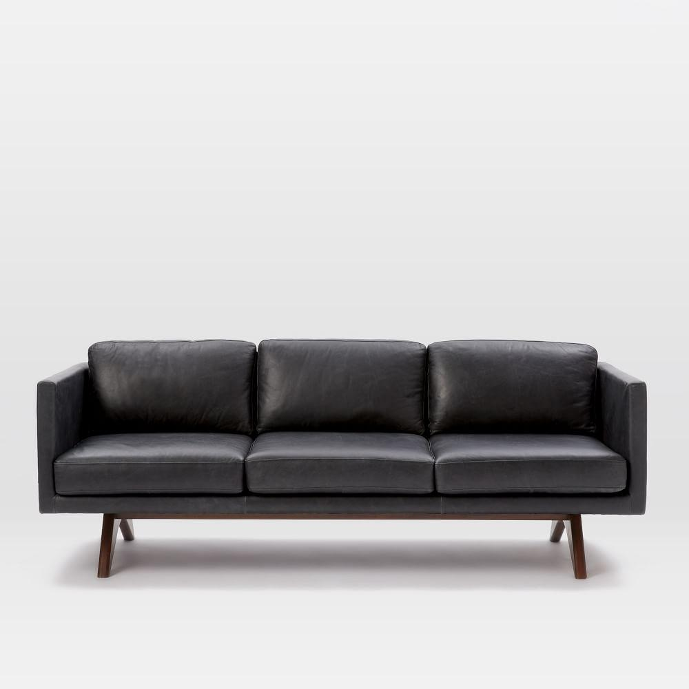 Brooklyn Leather Sofa (206 cm) | west elm UK