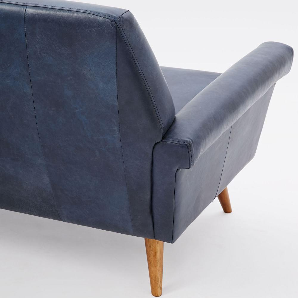 Denmark Leather Loveseat 168 Cm West Elm Uk