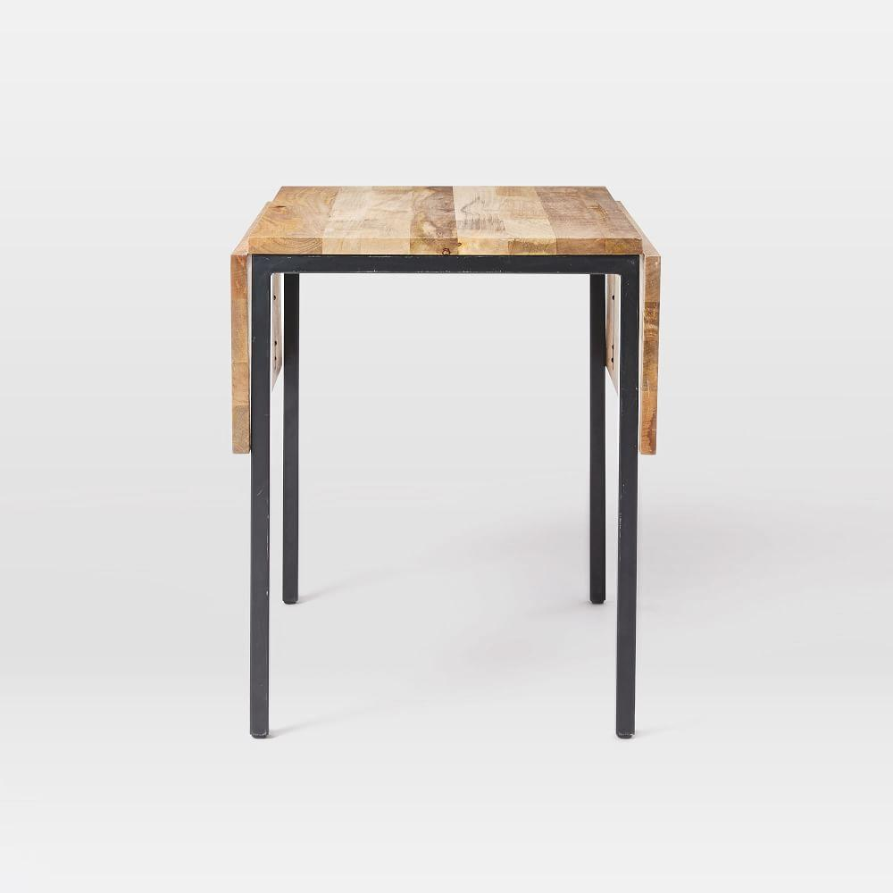 Box frame drop leaf expandable table west elm uk - Small space dining table solutions model ...