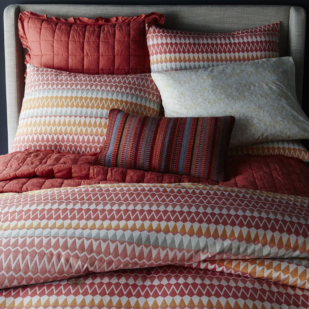 Margo Selby Organic Zigzag Stripe Duvet Cover