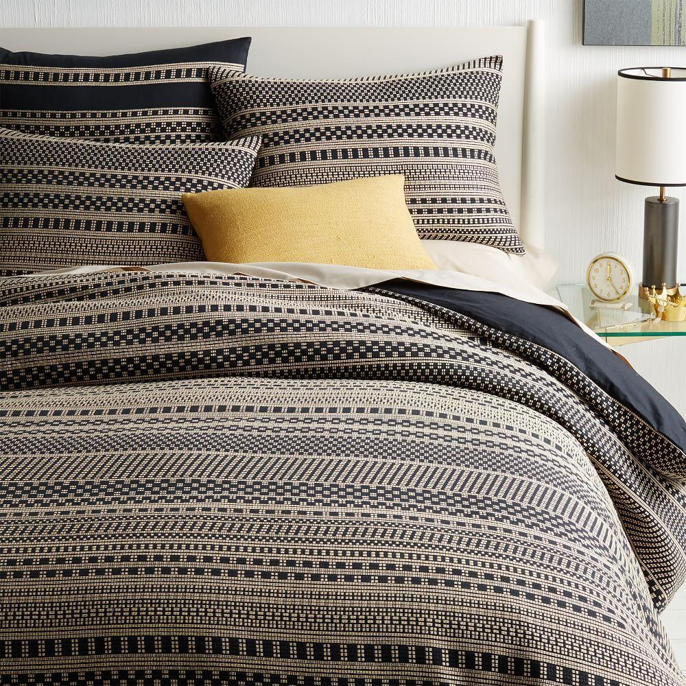Organic Washed Woven Dot Duvet Cover Pillowcases West