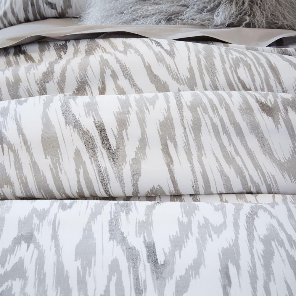 woodgrain ikat duvet cover pillowcases west elm uk. Black Bedroom Furniture Sets. Home Design Ideas