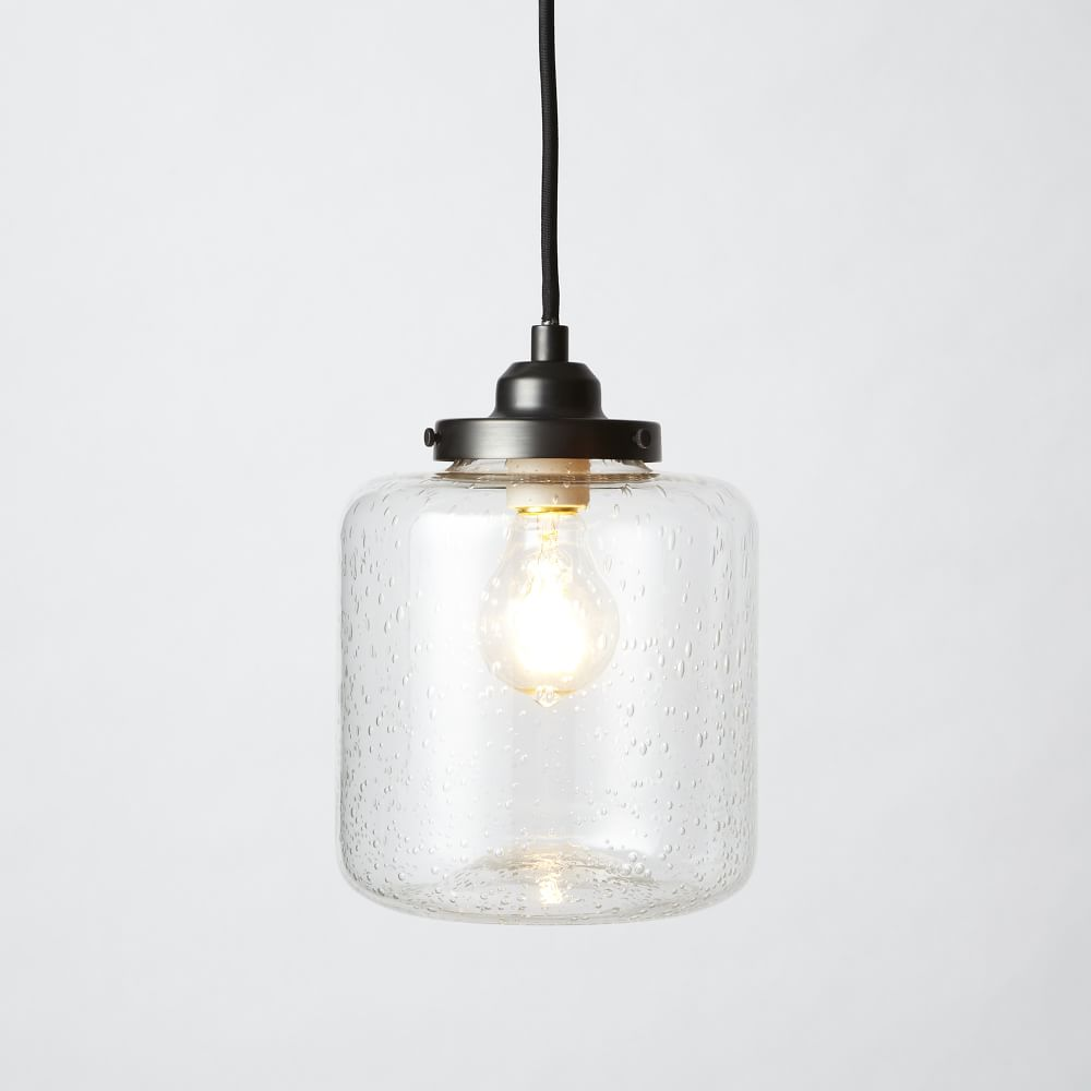 Bubble Glass Jar Pendant Short West Elm Uk