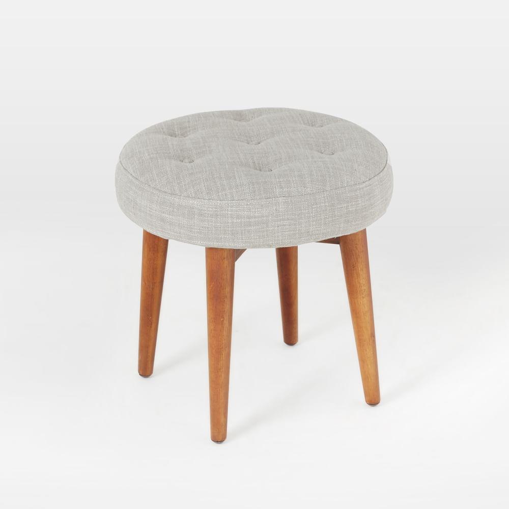 mid century upholstered stool west elm uk. Black Bedroom Furniture Sets. Home Design Ideas