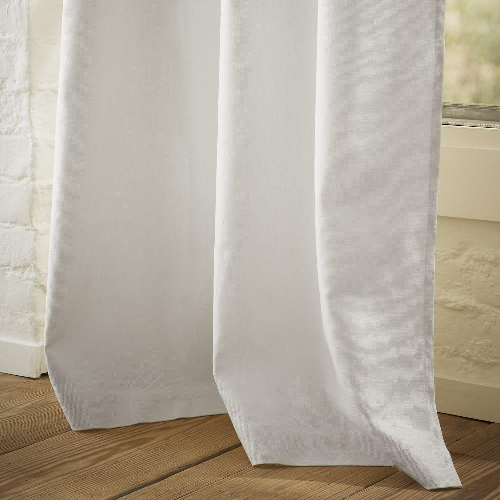 Linen Cotton Curtain + Blackout Lining - White