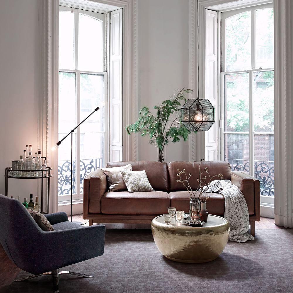 Dekalb Leather Sofa 216 Cm West Elm Uk