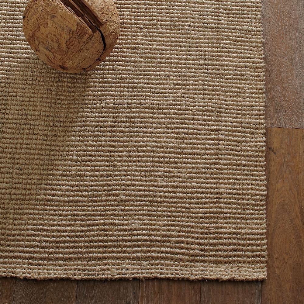 Jute Bouclé Rug - Flax | west elm UK