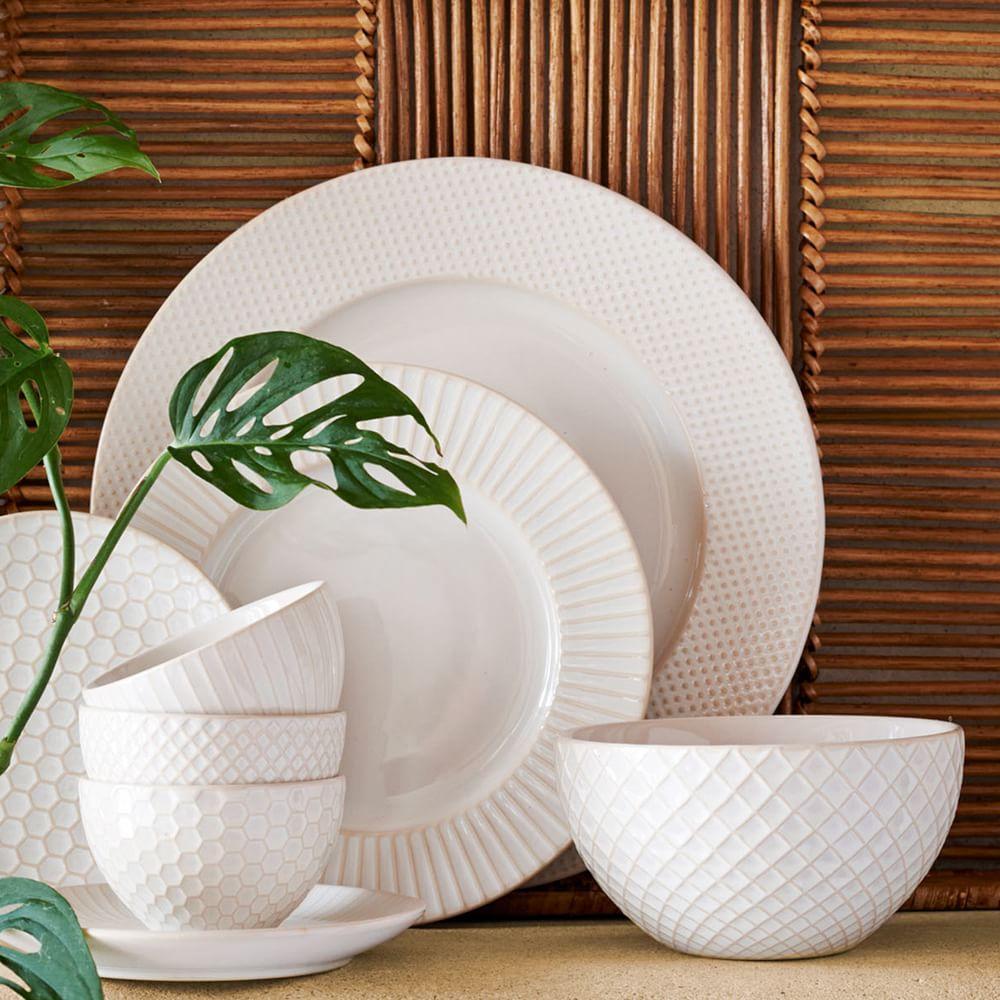 Textured Dinnerware - White | west elm UK
