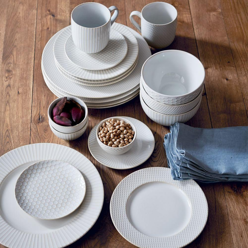 Textured Dinnerware White West Elm Uk