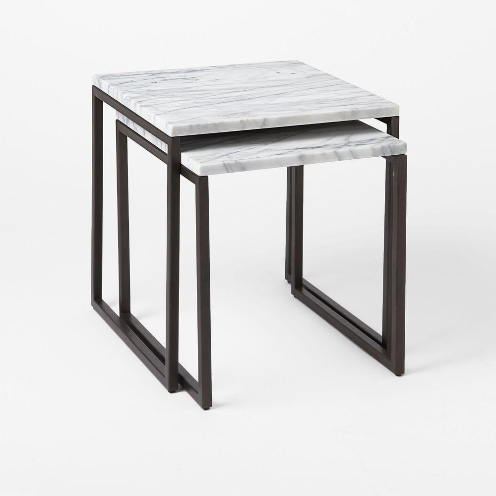 The marble shop west elm uk box frame nesting tables marble greentooth Gallery