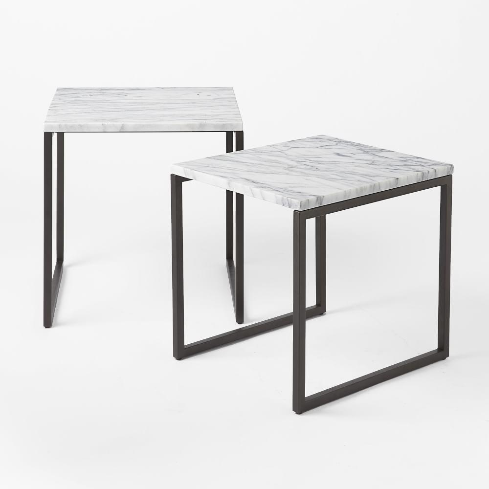 Box Frame Nesting Tables Marble West Elm UK