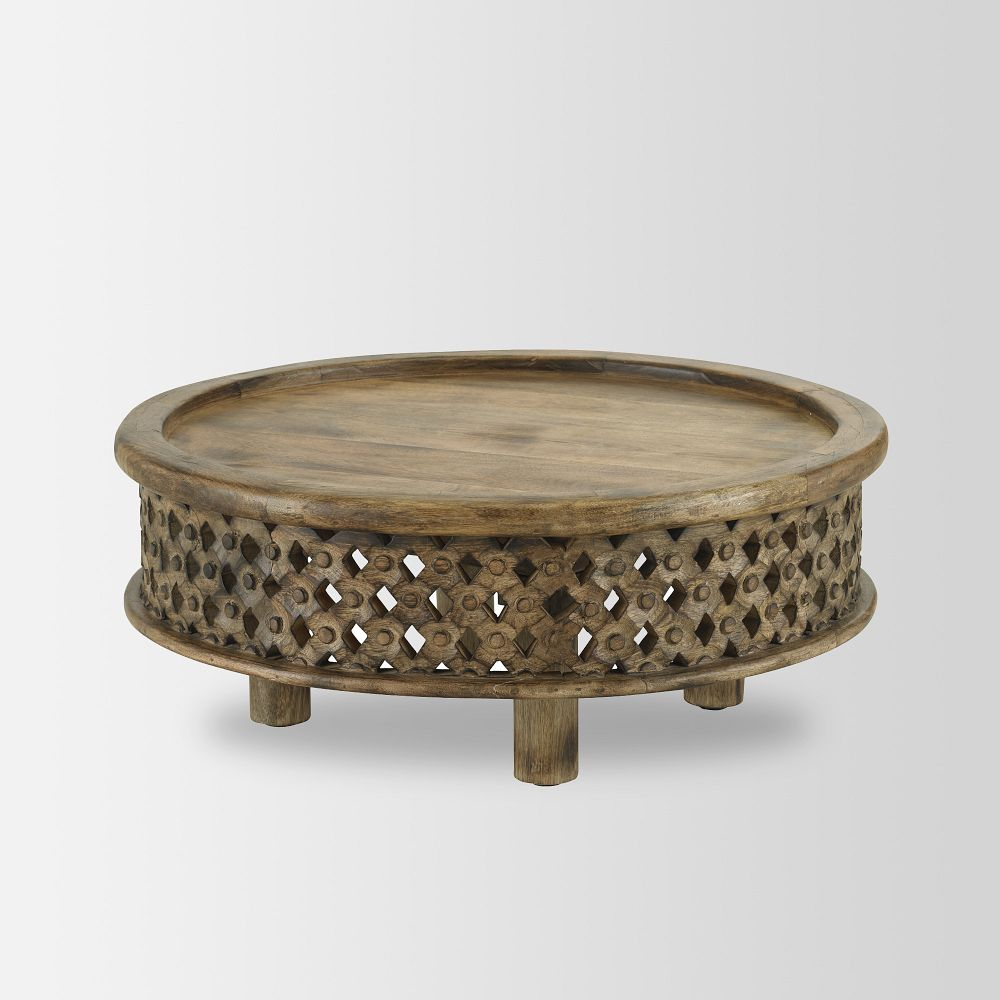 Carved Wood Coffee Table West Elm Uk