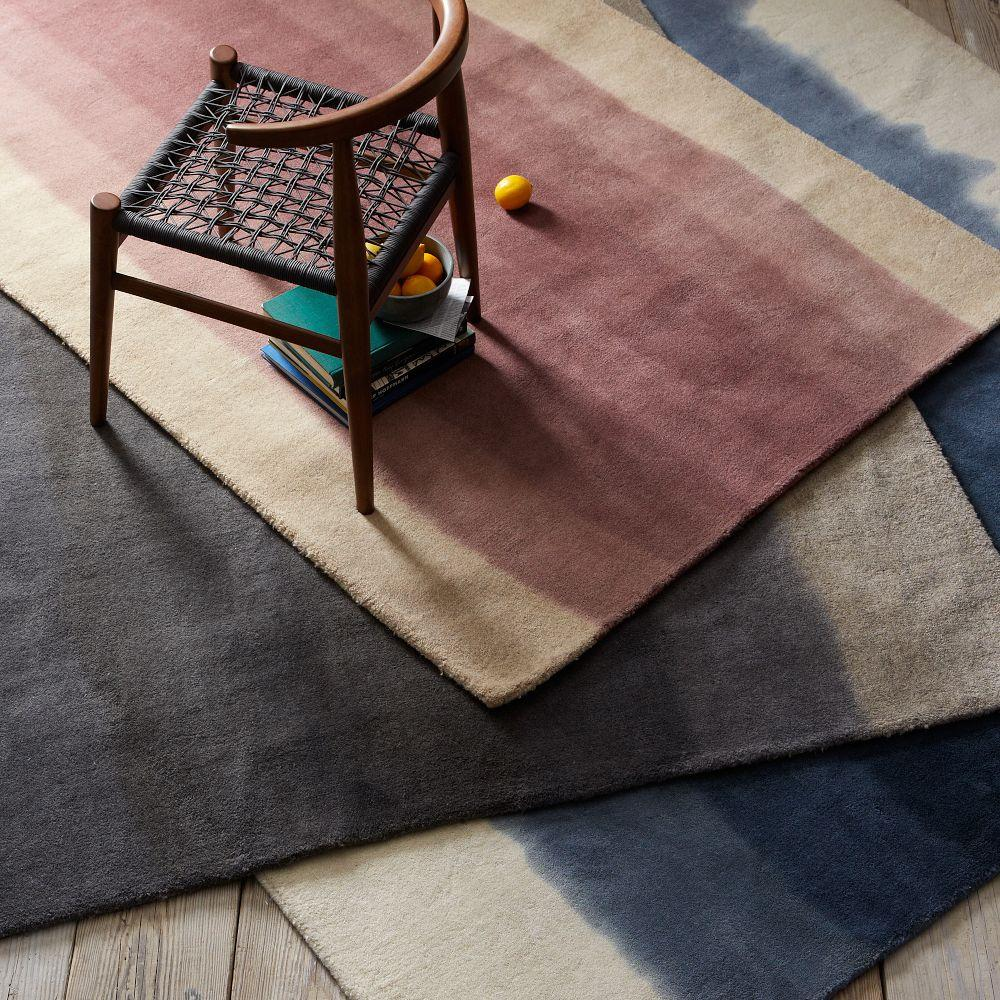 Ombre Dye Wool Rug Midnight