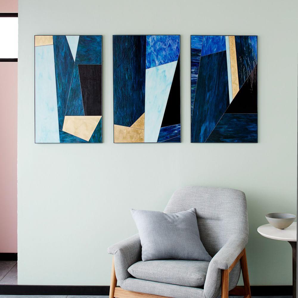 Roar + Rabbit Glass Triptych, Panel I