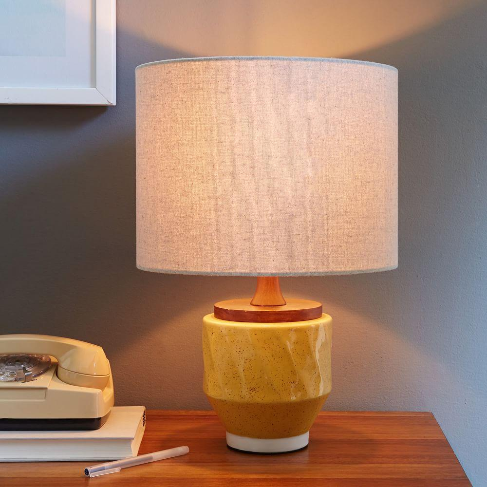 Roar Rabbit Ripple Ceramic Table Lamp Yellow West