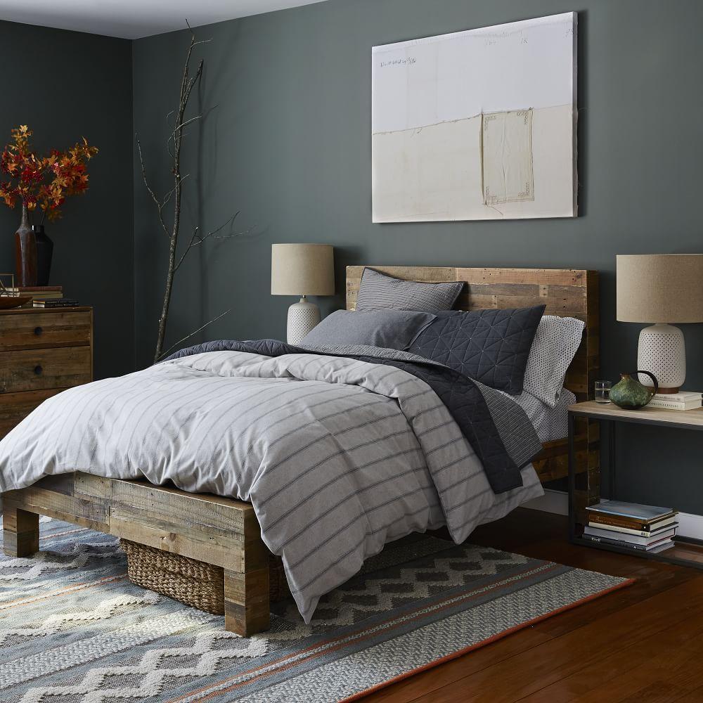 Flannel Stripe Duvet Cover + Pillowcases